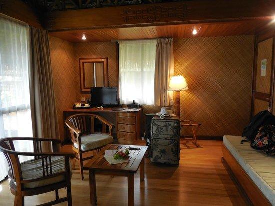Hotel Kia Ora Resort & Spa : Nice television with CNN International