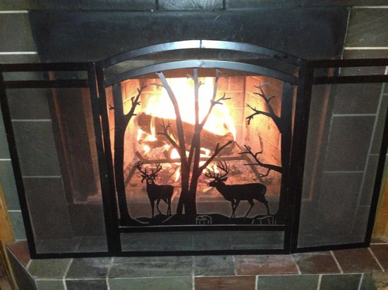 Sterling Ridge Resort: A warm and cozy fire!
