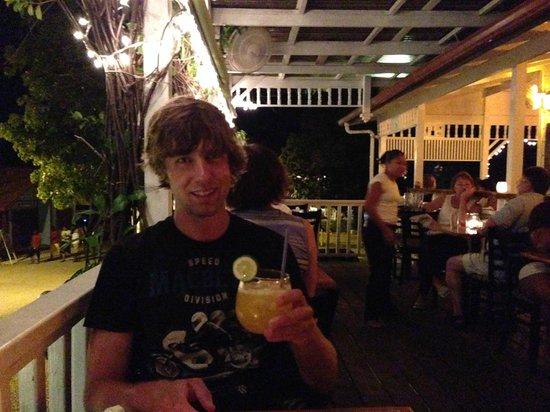 Rumfish y Vino: Enjoying and infusion on the front balcony