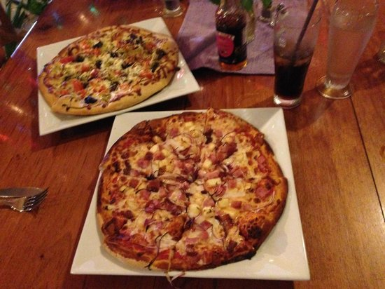 The Purple Space Monkey Bar & Grill : Two amazing pizzas!