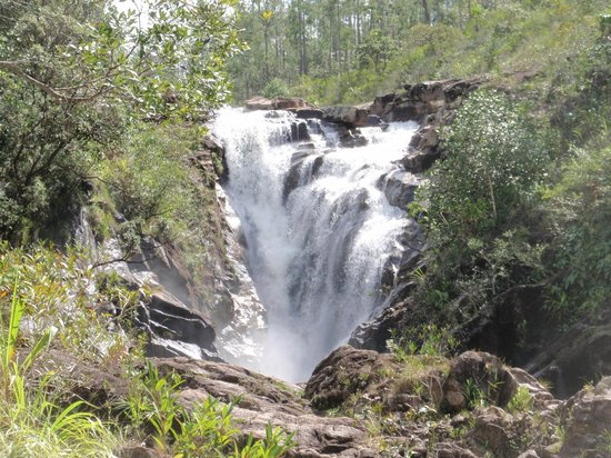 Mountain Equestrian Trails: The beautiful waterfall