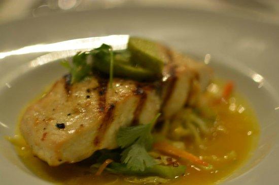Pacific Resort Aitutaki: Wahoo fish on cabbage, citrus jus - amazing