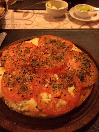 Maravillosa pizza en el retorno