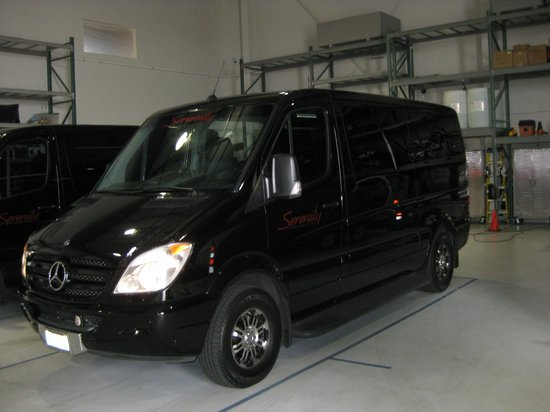 Serenity Helicopters : Serenity Van for Hotel pick up.