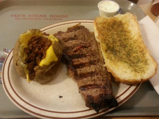 Tad's Steakhouse: Famous steak dinner