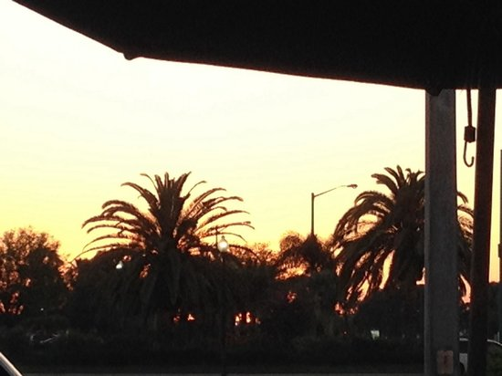 West End Grill: Patio view at sunset.