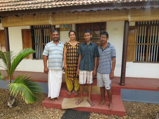 Thevercad Homestay: George, Bindu, and sons