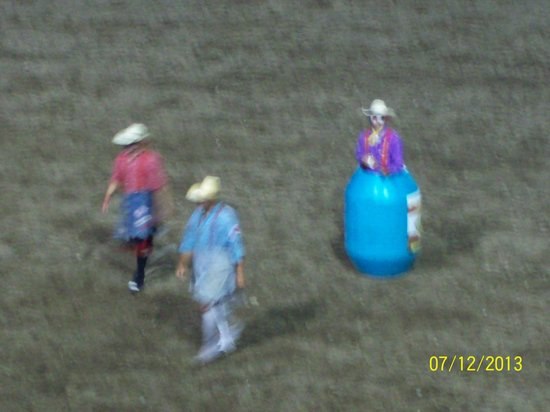 Buffalo Bill Cody Stampede Rodeo: The rodeo clowns