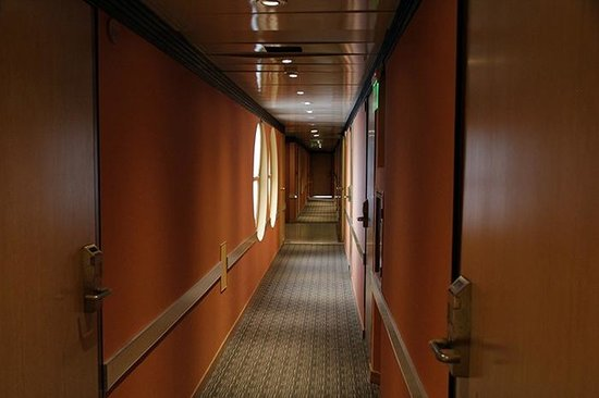 Regente Palace Hotel: Corridor to the rooms.