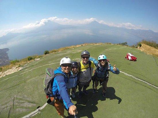 Paragliding Panajachel: Startpoint
