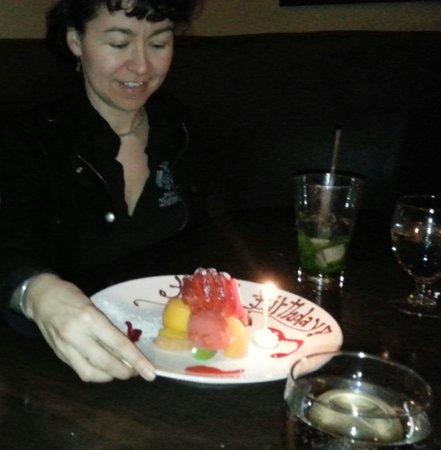 Rim Rock Cafe & Oyster Bar : Beautiful Birthday Sorbet
