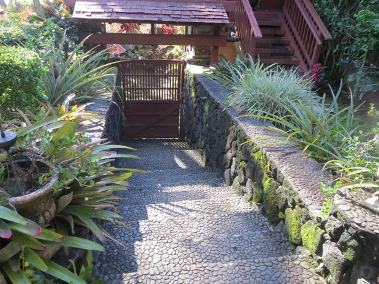 Bali House and Bali Cottage: stairs to the carport