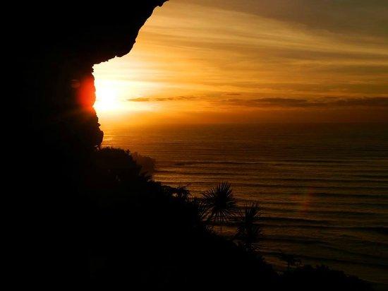 Sunset from Cliff behind Punakaiki Beach Camp