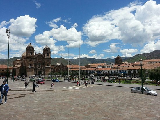 Belmond Hotel Monasterio: Beautiful Cusco. The Monasterio is just behind this square