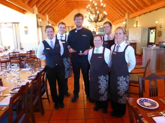 Voyager Estate: Exec Chef Nigel Harvey and floor staff