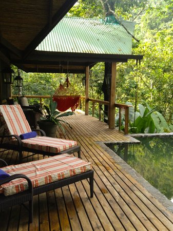 Pacuare Lodge: Back porch on the Linda Vista Suite