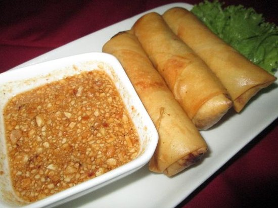 Nyam: Pork spring rolls - impossibly crispy, recommended!