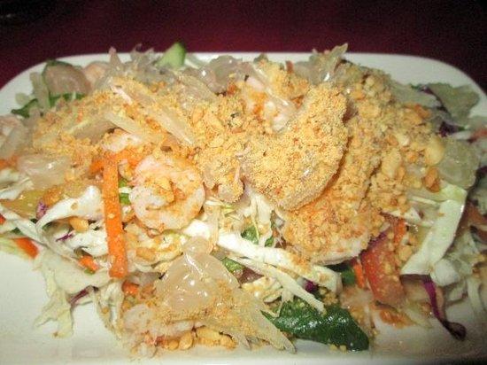 Nyam: Pomelo salad with shrimp - popular choice