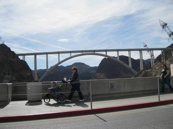 Mike O'Callaghan-Pat Tillman Memorial Bridge: Bridge from Hoover Dam.