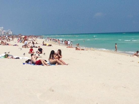 South Beach looks crowded but does not feel crowded!