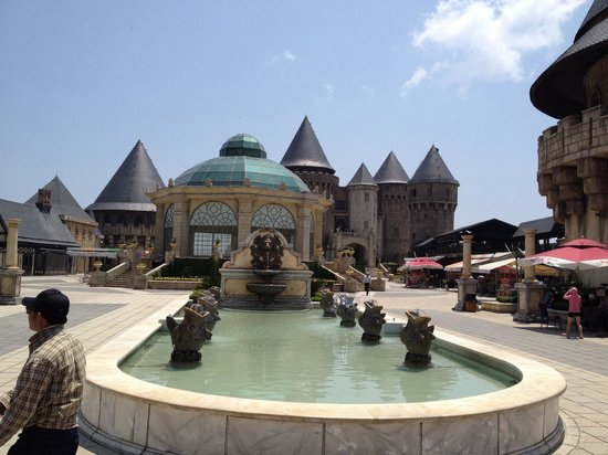 Ba Na Hills: Right at the top, after the second cable car ride, is the new resort, amusement park and wax mus