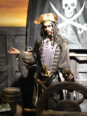 Ba Na Hills: Wax statue of 'Captain Jack Sparrow' out of Pirates of the Caribbean - as seen in the wax museum