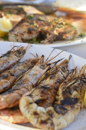 Santorini Yachting: Delicious Prawns