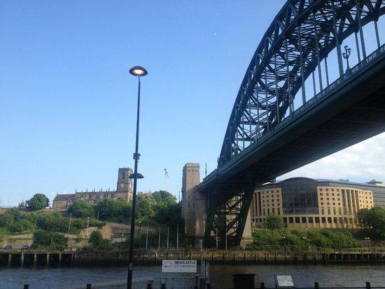 Premier Inn Newcastle Quayside: View from restaurant