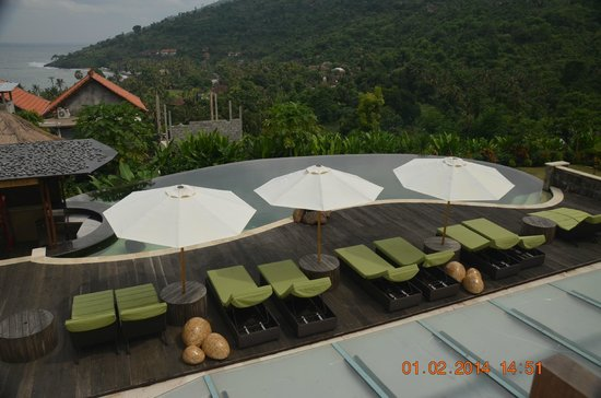 The Griya Villas and Spa: View above the restaurant