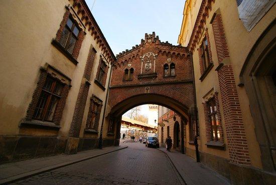 St. Florian's Gate (Brama Florianska) : Brama Floriańska z ul.Pijarskiej