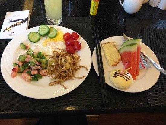 Geshan Pinyue Hotel: завтрак