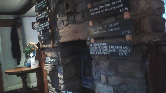 The Dalesman Country Inn: `Specials` chalked up.