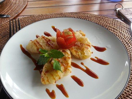 Ubud Padi Villas: Great afternoon tea - banana fritters