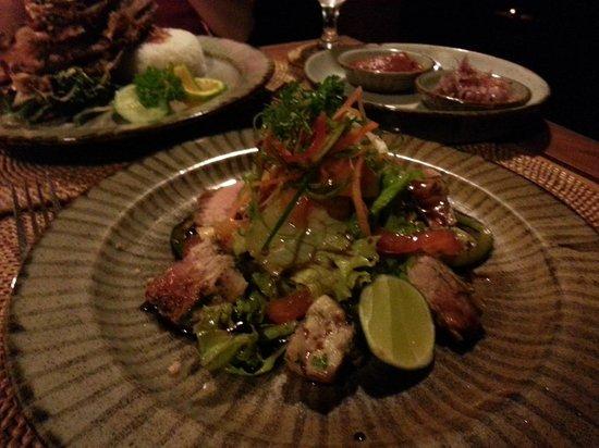 Ubud Padi Villas: Grilled tuna salad