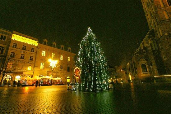 Marktplatz (Rynek Główny): Świąteczna iluminacja
