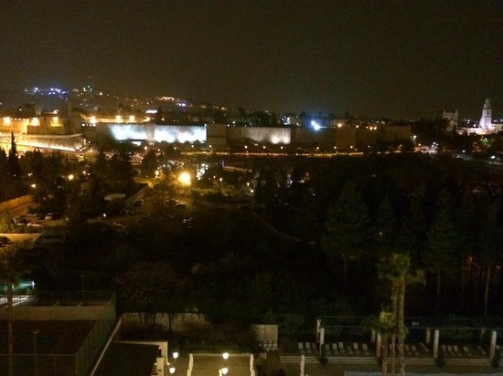 The King David: The view from my window at night of the Old City