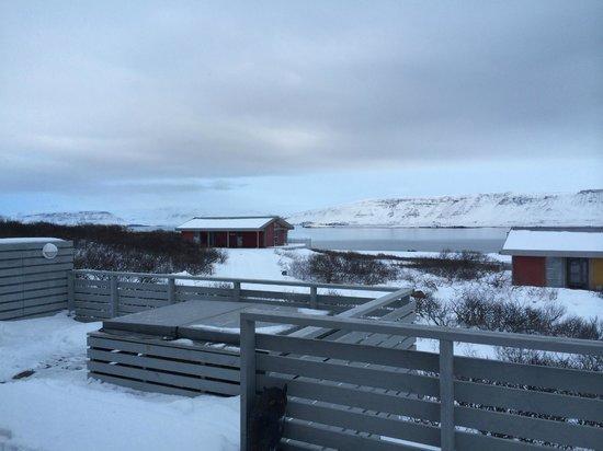 Hotel Glymur: View from Villa
