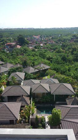 Park Hotel Nusa Dua: Villas, view from roof top restaurant
