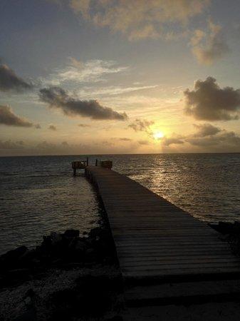 Sorobon Beach & Wellness Resort: Sunrise and jetty