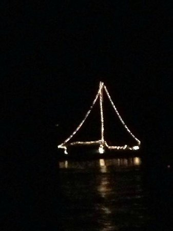 Sail Muscongus Day Tours: Lit up for the fourth of July.