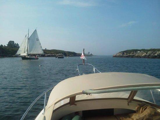 Sail Muscongus Day Tours: Sailing through Fisherman's Passage