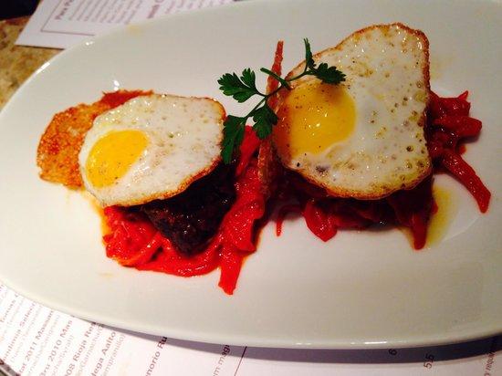 Barrafina : Morcilla com ovos de codorna.