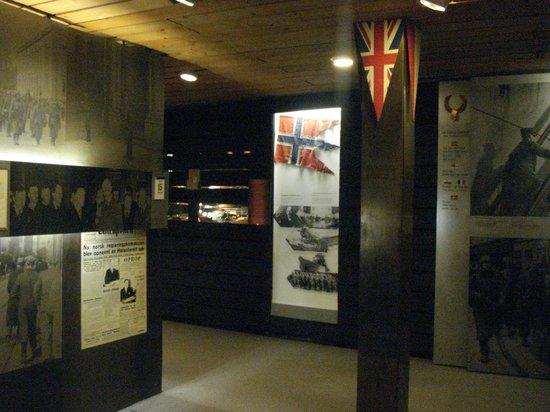 Museo de la Resistencia Noruega: Utställning