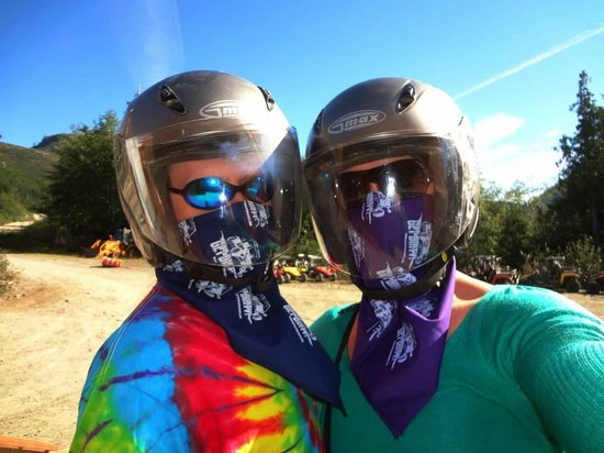 Adventure Kart Expedition: Very big smiles under the bandanas