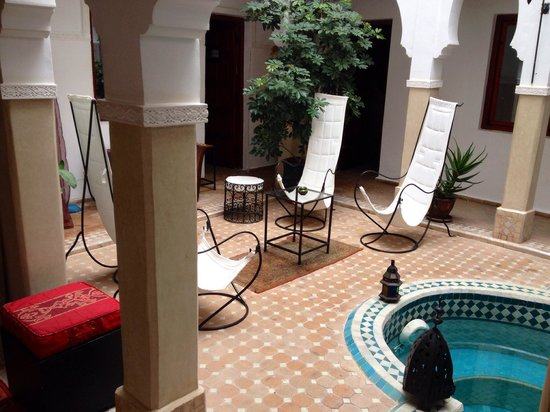 Riad Les Jardins Mandaline: Chill out area
