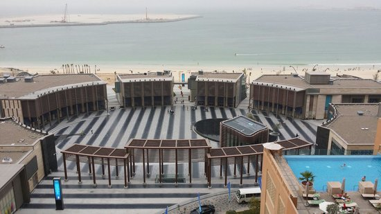 Sofitel Dubai Jumeirah Beach: View facing the hotel from the 8th floor, overlooking the beach and the new mall