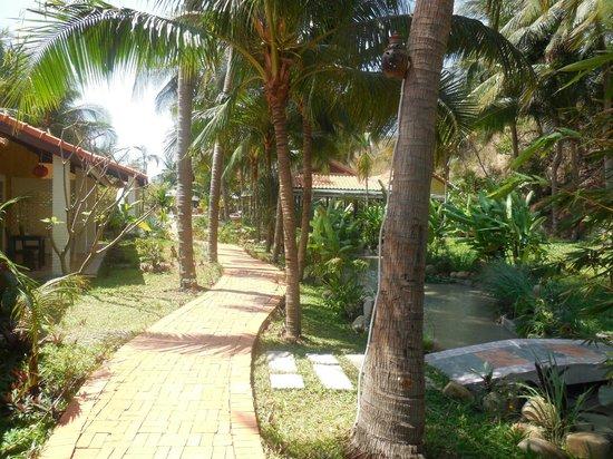 Green Hill Resort & Spa: Дорожка из бунгало к бассейну