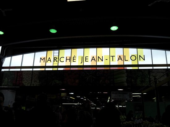 Mercado Jean-Talon: Beautiful Glass Sign