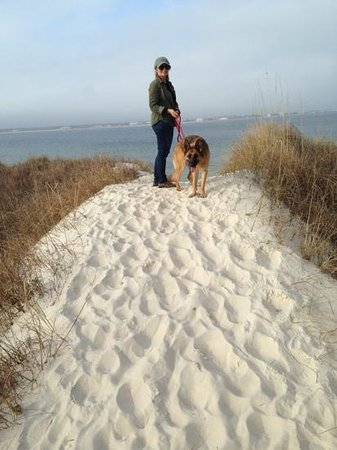 Gulf Islands National Seashore - Florida District: no dogs allowed on beach but we got close