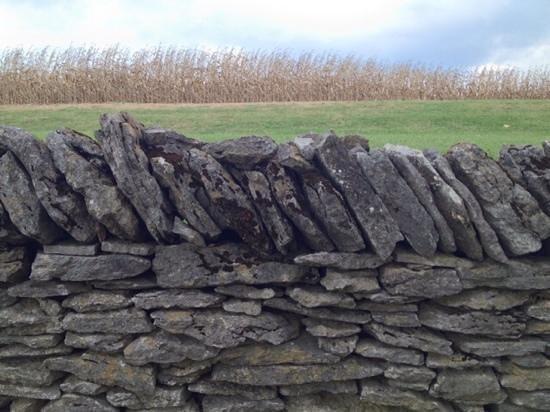 Shaker Village of Pleasant Hill - The Inn : stone wall